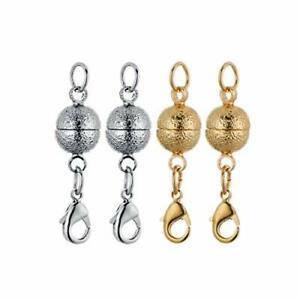 Magnetic Jewelry Clasp for Bracelet Necklace 8mm Nail Sand Scrub Finishes Round