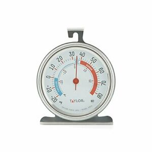 Taylor Precision Products Classic Large Dial Fridge Freezer Thermometer 1 Pack