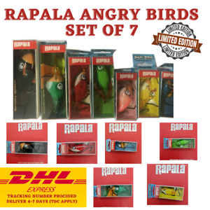 Rapala Angry Birds Set of 7 Lures LIMITED EDITION Rapala Collector Express Ship