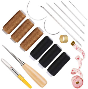 Leather Hand Sewing Craft Tools With Sewing Awl Leather Sewing Needles 6 Pcs 5 $7.99