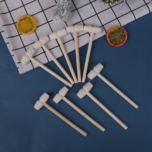 10 Pcs Mini Wooden Hammer Ball Toy Pounder Replacement Wood Mallets Baby G3 Jx N $10.89