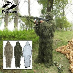 Tactical Camouflage Clothing 3D Camo Sniper Ghillie Suit Woodland Tree Stand set