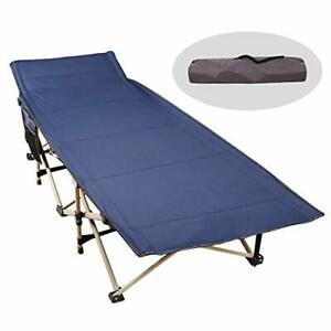 CAMPMAX Camping Cots for Adults Most Comfortable Double Layer Oxford Sturdy F...