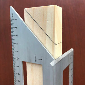NEW Multifunctional Square 45 90 Degree Gauge Angle Ruler Measuring Tool Charm $11.99