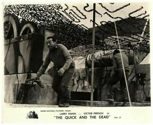 The Quick and the Dead Original Lobby Card Soldiers Running Under Camouflage