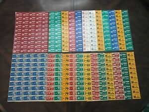 TEXAS LICENSE PLATE STICKER COLLECTION LOT OF 25 SHEETS OF 50 STICKERS