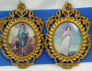 Vintage MCM Victorian Lithographs Pinkie and Blue Boy Paintings SP MOD DEPOSE $23.99