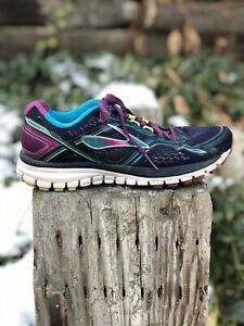 Brooks Ghost 8 Purple Navy Athletic Womens Running Shoes Size 8.5 $30.00