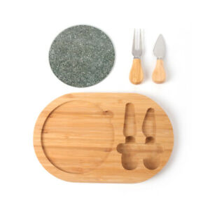 wooden glass Stainless steel cheese cutting board set with handle $49.99
