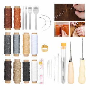 37Pcs Set Leather Sewing Kit DIY Leather Stitching Repair Leather Craft Tools $18.27
