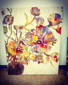 Large Original Signed Authentic Abstract Painting  $350.00
