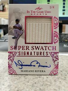 2020 LEAF IN THE GAME USED SPORTS MARIANO RIVERA JERSEY AUTO #1 4 $125.00