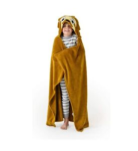 """Sloth Wearable Hooded Blanket for Kids Machine Washable 40""""H x 50""""W $27.70"""