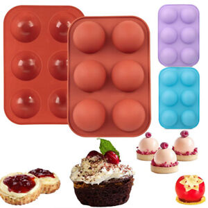 6 Cups Silicone Mold Hot Chocolate Bomb Cake Baking Mould Jelly Dome Mousse Tray $6.99