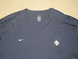 NIKE FIT DRY TAMPA BAY RAYS MENS L S BASEBALL SHIRT NAVY BLUE 3XL USED POLYESTE $16.99