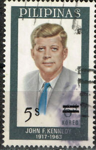 Philippines US President Kennedy Memorial stamp 1963