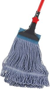 Looped End String Wet Mop Heavy Duty Cotton Mop Commercial Industrial Grade $23.39