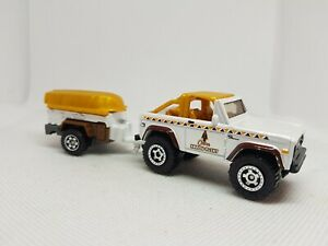 Matchbox #x27;72 Ford Bronco and Trailer Tent Camping Diecast Excellent Condition