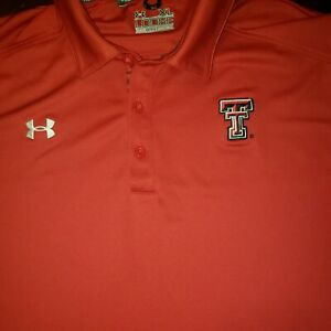 Mens Texas Tech Red Raiders Under Armour Xl Polo T shirt Loose Fit $24.75
