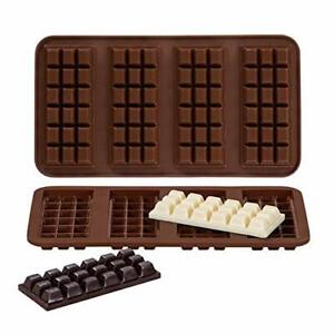 Webake Chocolate Bar Mold Silicone Break Apart Candy Molds for 1 Ounce Chocolate