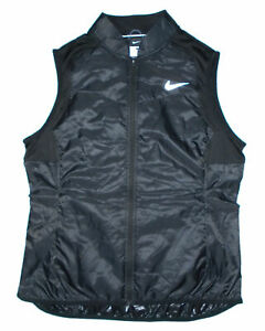 NIKE Running Vest BLACK AeroLayer Packable Insulated Lightweight RUN Mens NEW Lg $40.00