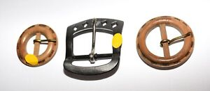 Lot of Three Vintage 70s Sewing Belt Buckles by Bailey Green amp; Elger BGE USA $12.99
