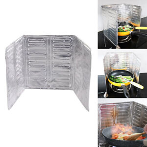 Kitchen Aluminium Screen Cover Gas Stove Anti Splatter Oil Splash Screen Guard