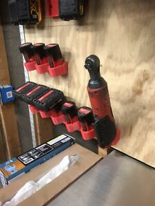 Milwaukee m12 Tool Battery Holder Wall Mount Red DeathTrap Designs