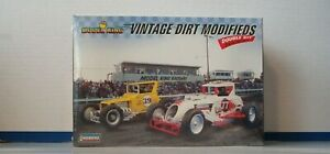 VINTAGE DIRT MODIFIEDS 1:25 scale Double Kit Build 2 Complete Cars Sealed $29.99