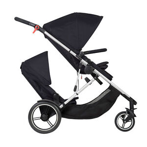 Phil Teds New Voyager Stroller Double Kit Black Brand New Open Box $299.00