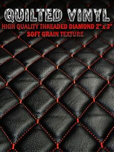 HQ Thread Quilted Vinyl Soft Grain Texture Diamond 2quot;x3quot; With 3 8quot; Foam Backing $18.99