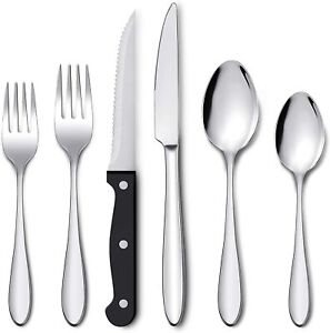 48 Pcs Flatware Set Stainless Steel Silverware Cutlery Set Service For 8 $30.99