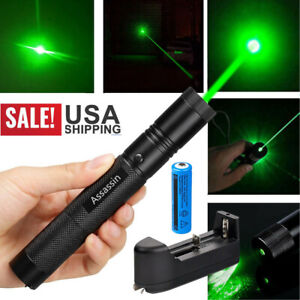 900Miles Green Laser Pointer Pen 532nm Rechargeable 1mw Lazer TorchBattCharger $10.98