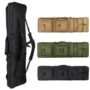 39quot;Tactical Double Dual Carbine Rifle Range Gun Padded Case Bag Hunting Backpack