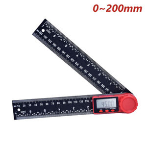 8quot; Electronic Digital Angle Finder LCD Protractor Ruler Stainless w battery $10.99