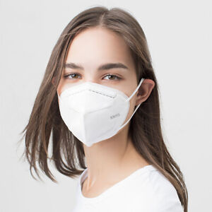 100 ct KN95 5Ply Disposable Face Mask Individually Wrapped w Nose Clip