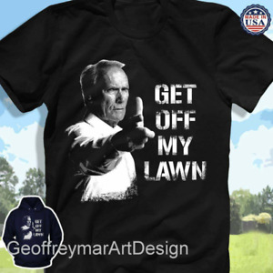 Get Off My Lawn T Shirt Funny Birthday Cotton Tee Vintage Gift For Men Women $17.99
