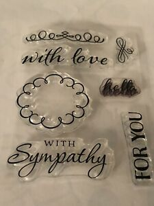 PHOTOPOLYMER STAMP SET SYMPATHY WITH LOVE HELLO FOR YOU