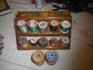 Vintage Thread With Wooden Rack $20.00