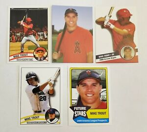 5 different 2009 Rookie lot MIKE TROUT Los Angeles Angels