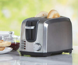 BLACKDECKER 2 Slice Toaster Modern Stainless Steel T2707SSilver New box $21.29