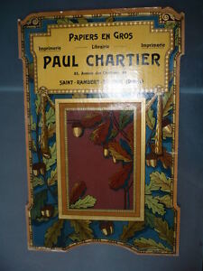 Chromolithography 1900 Paul Chartier Papers Drome St Rambert of Albon Art New $79.52