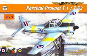 MiniWing Models 1 144 PERCIVAL PROVOST T.1 T.53 International Trainer DOUBLE KIT $14.99