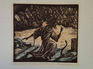 AMY WETHIEU ? SNAKE CHARMER IN MARAKESH FRENCH LITHOGRAPH ED. 50 $200.00