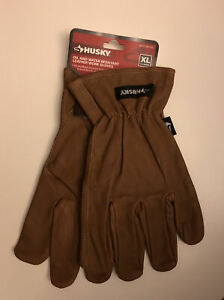 Husky Oil And Water Resistant Leather Work Gloves X LARGE Full Grain Cowhide