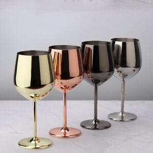 Stainless Steel Red Wine Set Glasses Barware Wedding Party Drinking 500ml Gift