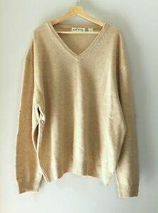 Orvis Womens XXL Lambswool Cream Solid V Neck Sweater Pullover $19.99