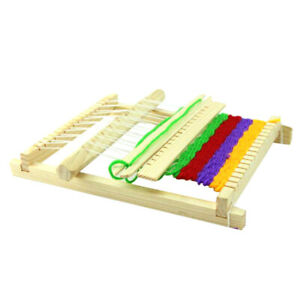 DIY Traditional Wooden Weaving Loom Craft Yarn Hand Knitting Weaving Machine