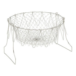 Deep Fry Cooking Basket Stainless Steel Foldable Colander for Frying Steaming
