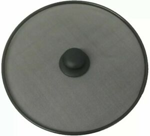11.5 Black Frying Pan Cover Splatter Screen Oil Guard With Handle FREE SHIPPING